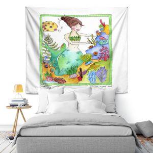 Artistic Wall Tapestry | Marley Ungaro Gardening Mermaid