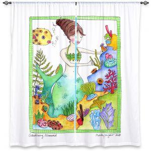 Decorative Window Treatments | Marley Ungaro Gardening Mermaid