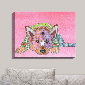 Decorative Canvas Wall Art   Marley Ungaro - German Shepherd Dog Light Pink