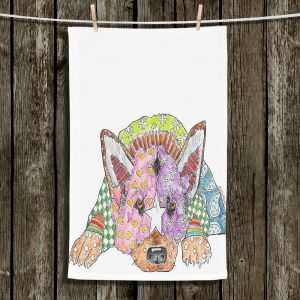 Unique Hanging Tea Towels | Marley Ungaro - German Shepherd Dog White | German Shepherd Dog
