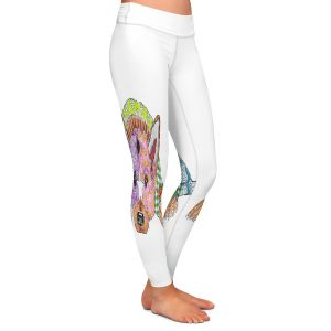 Unique Leggings Small from DiaNoche Designs by Marley Ungaro - German Shepherd Dog White