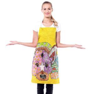 Artistic Bakers Aprons | Marley Ungaro - German Shepherd Dog Yellow | Abstract Colorful German Shepherd