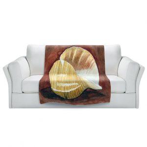 Artistic Sherpa Pile Blankets   Marley Ungaro - Giant Tun   Ocean seashell still life nature