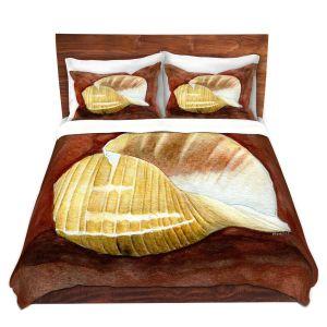 Artistic Duvet Covers and Shams Bedding | Marley Ungaro - Giant Tun | Ocean seashell still life nature