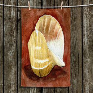 Unique Hanging Tea Towels   Marley Ungaro - Giant Tun   Ocean seashell still life nature