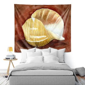 Artistic Wall Tapestry | Marley Ungaro - Giant Tun | Ocean seashell still life nature