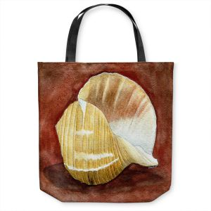 Unique Shoulder Bag Tote Bags | Marley Ungaro - Giant Tun | Ocean seashell still life nature