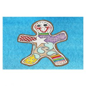Decorative Floor Coverings   Marley Ungaro - Gingerbread Aqua   Gingerbread Man Holidays Christmas Childlike