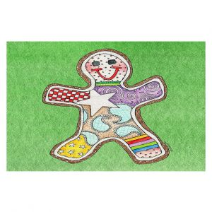 Decorative Floor Coverings | Marley Ungaro - Gingerbread Green | Gingerbread Man Holidays Christmas Childlike
