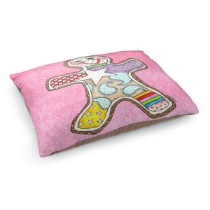 Decorative Dog Pet Beds   Marley Ungaro - Gingerbread Light Pink   Gingerbread Man Holidays Christmas Childlike
