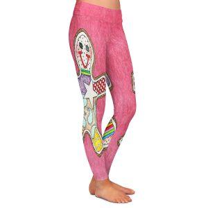 Casual Comfortable Leggings | Marley Ungaro - Gingerbread Pink | Gingerbread Man Holidays Christmas Childlike