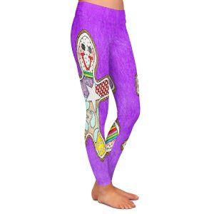 Casual Comfortable Leggings | Marley Ungaro - Gingerbread Purple | Gingerbread Man Holidays Christmas Childlike