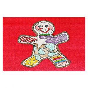 Decorative Floor Coverings   Marley Ungaro - Gingerbread Red   Gingerbread Man Holidays Christmas Childlike