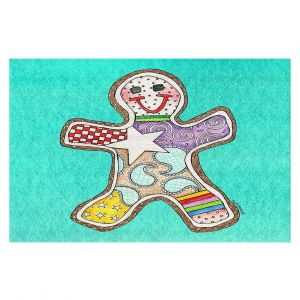Decorative Floor Coverings | Marley Ungaro - Gingerbread Turquoise | Gingerbread Man Holidays Christmas Childlike