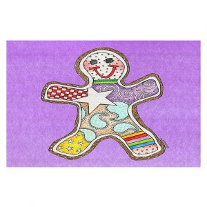 Decorative Floor Coverings   Marley Ungaro - Gingerbread Violet   Gingerbread Man Holidays Christmas Childlike