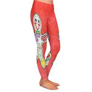 Casual Comfortable Leggings | Marley Ungaro - Gingerbread Watermelon | Gingerbread Man Holidays Christmas Childlike