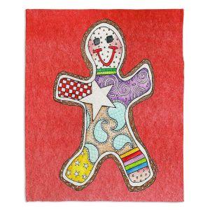 Decorative Fleece Throw Blankets | Marley Ungaro - Gingerbread Watermelon | Gingerbread Man Holidays Christmas Childlike