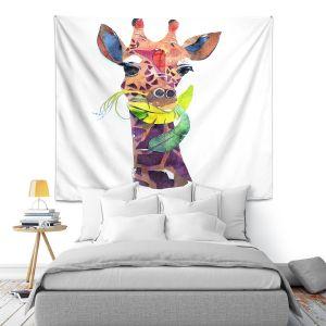 Artistic Wall Tapestry | Marley Ungaro Giraffe