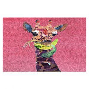 Decorative Floor Covering Mats | Marley Ungaro - Giraffe Pink | Nature animals portrait