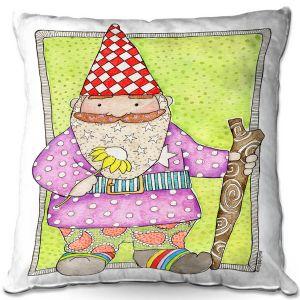 Decorative Outdoor Patio Pillow Cushion | Marley Ungaro - Gnome | Garden Gnome