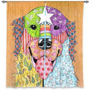 Decorative Window Treatments | Marley Ungaro Golden Retriever Dog Tan