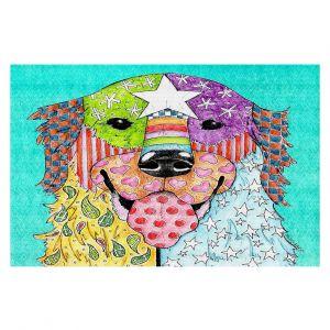 Decorative Floor Coverings   Marley Ungaro Golden Retriever Dog Turquoise