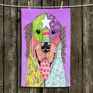 Unique Bathroom Towels | Marley Ungaro - Golden Retriever Dog Violet