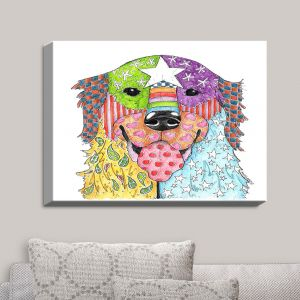 Decorative Canvas Wall Art | Marley Ungaro - Golden Retriever Dog White