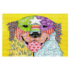 Decorative Floor Coverings   Marley Ungaro Golden Retriever Dog Yellow