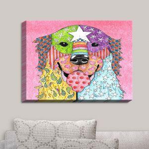 Decorative Canvas Wall Art | Marley Ungaro - Golden Retriever Dog Light Pink