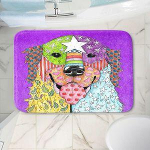 Decorative Bathroom Mats | Marley Ungaro - Golden Retriever Dog Purple