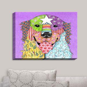 Decorative Canvas Wall Art   Marley Ungaro - Golden Retriever Dog Violet