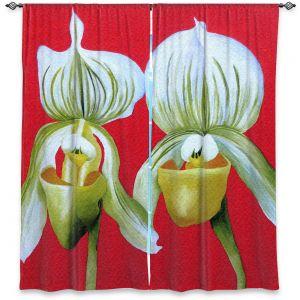 Decorative Window Treatments | Marley Ungaro - Gossip Girls White Orchids | Flower still life nature