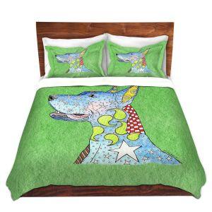 Artistic Duvet Covers and Shams Bedding | Marley Ungaro - Great Dane Green