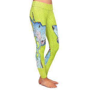 Casual Comfortable Leggings | Marley Ungaro - Great Dane Lime