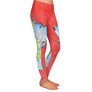 Casual Comfortable Leggings   Marley Ungaro - Great Dane Watermelon