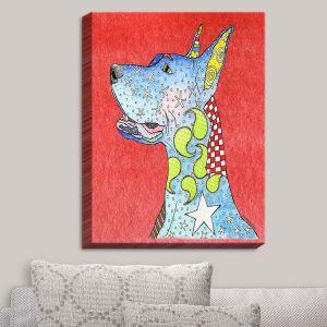 Decorative Canvas Wall Art   Marley Ungaro - Great Dane Watermelon   Dog Animal Pet Funk Colorful Great Dane
