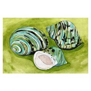 Decorative Floor Covering Mats | Marley Ungaro - Green Turbo Shells | Ocean seashell still life nature