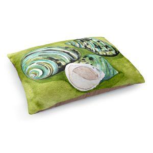 Decorative Dog Pet Beds | Marley Ungaro - Green Turbo Shells | Ocean seashell still life nature