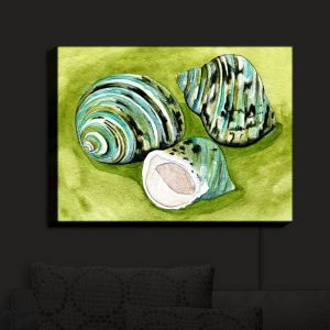 Nightlight Sconce Canvas Light | Marley Ungaro - Green Turbo Shells