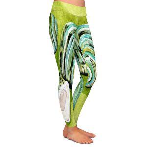 Casual Comfortable Leggings | Marley Ungaro - Green Turbo Shells | Ocean seashell still life nature