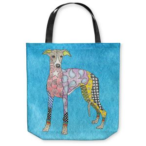 Unique Shoulder Bag Tote Bags |Marley Ungaro - Greyhound Aqua