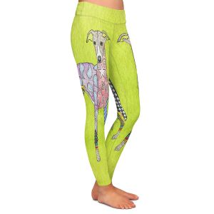 Casual Comfortable Leggings | Marley Ungaro - Greyhound Lime