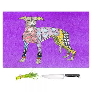 Artistic Kitchen Bar Cutting Boards | Marley Ungaro - Greyhound Purple