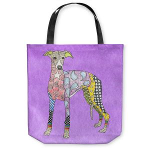 Unique Shoulder Bag Tote Bags |Marley Ungaro - Greyhound Violet