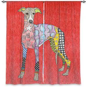 Decorative Window Treatments | Marley Ungaro - Greyhound Watermelon