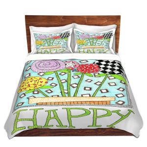 Artistic Duvet Covers and Shams Bedding   Marley Ungaro - Happy Flowers   Floral Inspiration