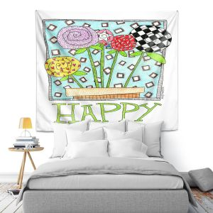 Artistic Wall Tapestry   Marley Ungaro - Happy Flowers   Floral Inspiration
