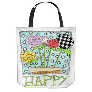 Unique Shoulder Bag Tote Bags | Marley Ungaro - Happy Flowers | Floral Inspiration