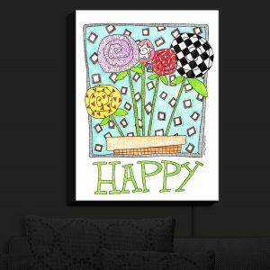 Nightlight Sconce Canvas Light | Marley Ungaro - Happy Flowers | Floral Inspiration
